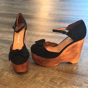 Jeffrey Campbell Daisy suede platform wedge heels